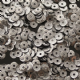Value Pack 50g 4mm Satin Gunmetal Semi-cupped Sequins.